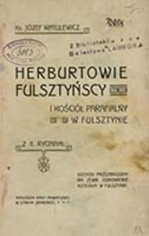 Herburtowie fulsztyńscy i kościół parafialny w Fulsztynie / skreślił Józef Watulewicz