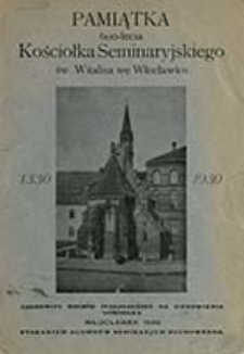 Pamiątka 600-lecia kościołka seminaryjskiego św. Witalisa we Włocławku 1330 - 1930
