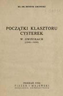 Początki klasztoru cysterek w Owińskach : (1242-1250) / Henryk Likowski