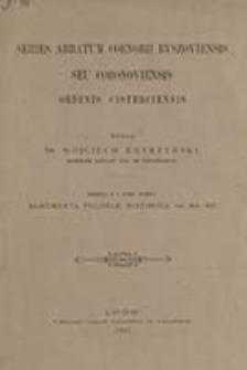 Series abbatum coenobii Byszoviensis seu Coronoviensis ordinis cisterciensis / wydał Wojciech Kętrzyński