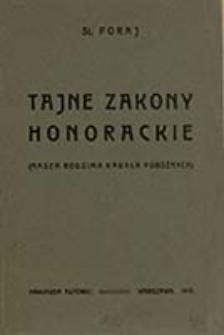 Tajne zakony honorackie : (nasza rodzima kabała pobożnych) / St. Poraj