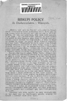 Biskupi polscy do duchowieństwa i wiernych / [Edmund Dalbor et al.].