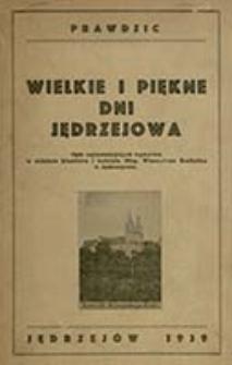 Wielkie dni Jędrzejowa / Prawdzic