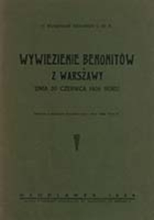 Wywiezienie Benonitów z Warszawy dnia 20 czerwca 1808 roku