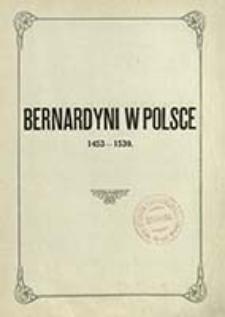 Bernardyni w Polsce. T. 2, Zakonnicy tego okresu. Cz. 3