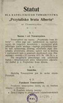 """Statut dla Katolickiego Towarzystwa """"Przytulisko brata Alberta"""" w Przemyślu"""
