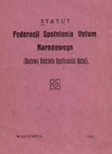 Statut Federacji Spełnienia Votum Narodowego (Budowy Kościoła Opatrzności Bożej)