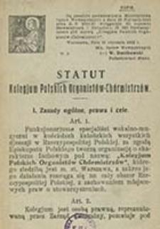 Statut Kolegium Polskich Organistów-Chórmistrzów