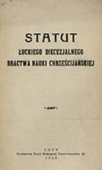 Statut Łuckiego Diecezjalnego Bractwa Nauki Chrześcijańskiej