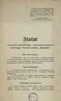 """Statut rzymsko-katolickiego oświatowo-dobroczynnego Towarzystwa """"Oświata"""""""