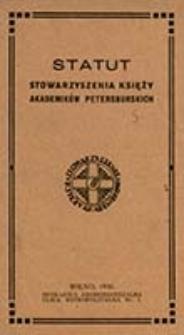 Statut Stowarzyszenia Księży Akademików Petersburskich