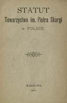 Statut Towarzystwa im. Piotra Skargi w Polsce