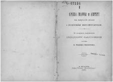 Opieka prawna w Austryi dla zabytków sztuki i pomników historycznych : ze szczególnem uwzględnieniem stosunków galicyjskich / napisał Włodzimierz Demetrykiewicz.
