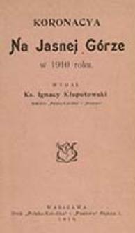 Koronacya na Jasnej Górze w 1910 roku / wyd. Ignacy Kłopotowski