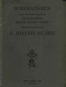 Schematismus Ordinis St. Joannis de Deo Almae Provinciae Poloniae Annuntiationis Beatae Mariae Virginis