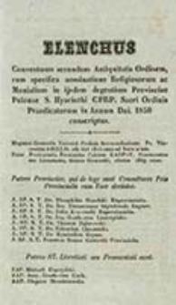Elenchus Conventuum secundum Antiquitatis Ordinem cum Specifica Nominatione Religiosorum ac Monialium in Ijsdem Degentium Provinciae Polonae S[ancti] Hiacinthi CPRP. Sacri Ordinis Praedicatorum