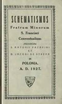 Schematismus Fratrum Minorum S[ancti] Francisci Conventualium Provinciae S[ancti] Antonii Patavini et B[eati] Jacobi de Strepa in Polonia