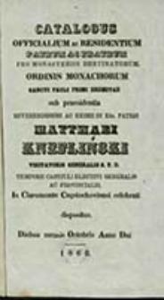 Catalogus Officialium Congregationis S[ancti] Pauli Primi Eremitae