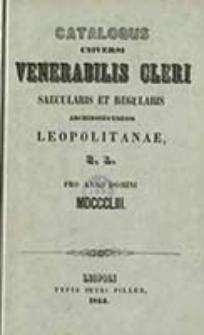 Schematismus Universi Saecularis et Regularis Cleri Archi Diaeceseos Metropol. Leopol. Rit. Lat.