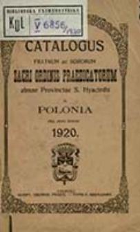 Catalogus Fratrum ac Sororum Sacri Ordinis Praedicatorum Almae Provinciae S[ancti] Hyacinthi in Polonia