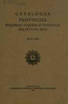 Catalogus Provinciae Poloniae Maioris et Mazoviae Societatis Iesu ex Anno ... in Anno ...