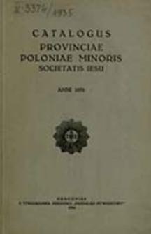Catalogus Provinciae Poloniae Minoris Societatis Iesu Anni ...