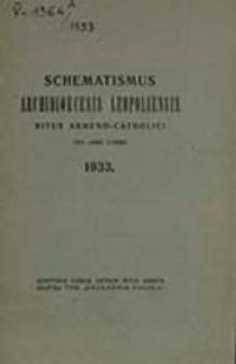 Catalogus Universi Cleri Archi-dioecesis Leopoliensis Ritus Armeni pro Anno Domini ...