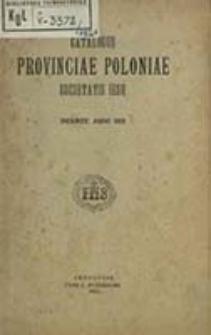 Catalogus Provinciae Poloniae Societatis Iesu ex Anno ... in Annum ...