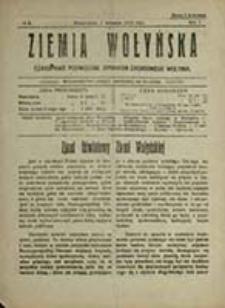 Ziemia Wołyńska : czasopismo poświęcone sprawom zachodniego Wołynia / [pod red. Stefana Kapuścińskiego]