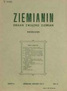 Ziemianin : organ Związku Ziemian / [red. Józef Janota Bzowski]