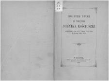 Dodatek drugi do Pamiętnika pomnika Kościuszki, obejmujący czas od 1 lipca 1852 roku do końca roku 1876.