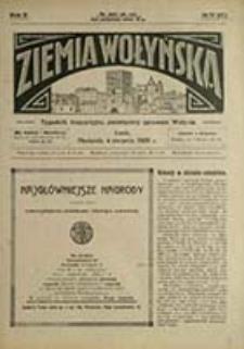Ziemia Wołyńska : tygodnik bezpartyjny, poświęcony sprawom Wołynia / [red. Wojciech Biega]