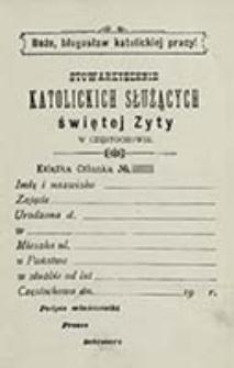 Ustawa Stowarzyszenia Katolickich Służących św. Zyty w Częstochowie