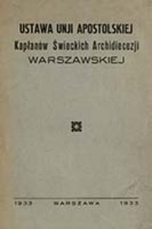 Ustawa Unji Apostolskiej Kaplanow Świeckich Archidiecezji Warszawskiej