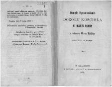 Drugie sprawozdanie dozoru kościoła N. Maryi Panny o restauracyi Ołtarza Wielkiego dzieła Wita Stwosza / [Lasocki].