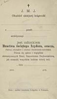 Ustawy Bractwa świętego Izydora dla Archidyecezyi Gnieźnieńskiéj i Poznańskiéj