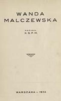 Wanda Malczewska / napisał X. S. P. M.