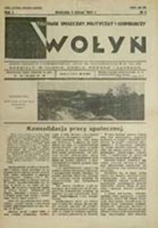 Wołyń : tygodnik społeczny, polityczny i gospodarczy / red. Jan Leszczyński