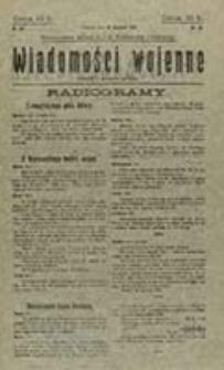 Wiadomości Wojenne / Red. M. G. Rosenfeld