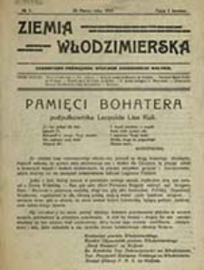 """Ziemia Włodzimierska : czasopismo poświęcone sprawom zachodniego Wołynia / [""""Straż Kresowa"""" na Wołyniu ; pod red. Stefana Kapuścińskiego]"""