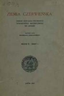 Ziemia Czerwieńska : [rocznik Oddziału Polskiego Towarzystwa Historycznego w Lwowie] / red. Kazimierz Hartleb i Kazimierz Tyszkowski