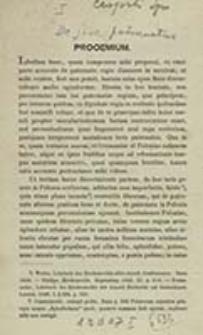 De iure patronatus quod vocant regium / Ignatius de Czapski