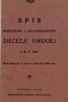 Spis Kościołów i Duchowieństwa Diecezji Pińskiej w R. P. ...