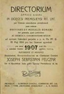 Directorium Officii Divini pro Dioecesi Premisliensi Juxta Rubricas Breviarii & Missalis Romani tam Generales, quam Particulares, & Decreta Sacrae Rituum Congregationis in Annum ...
