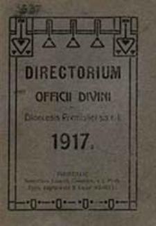 Directorium Officii Divini Rite Persolvendi Sacrique Celebrandi ad Usum Cleri Saecularis Dioecesis Premisliensis R[itus] L[atini] pro Anno Domini ...
