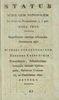 Status Scholarum Nationalium in Dioecesi Premisliensi R[itus] L[atini] pro Anno ...