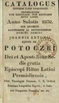 Cathalogus Cleri Dioecesis Premisliensis tum Saecularis tum Regularis