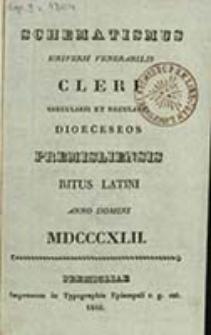 Schematismus Universi Venerabilis Cleri Dioeceseos Premisliensis tum Saecularis tum Regularis Ritus Latini