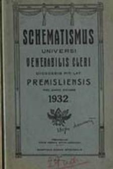 Schematismus Universi Venerabilis Cleri Saecularis et Regularis Dioecesis Rit[us] Lat[ini] Premisliensis pro Anno Domini ...