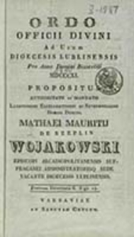 Ordo Officii Divini ad Usum Dioecesis Lublinensis pro Anno Domini ...